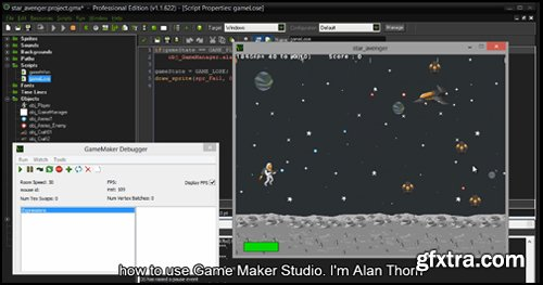 3DMotive - Intro to GameMaker Studio with Alan Thorn FULL & Project Files