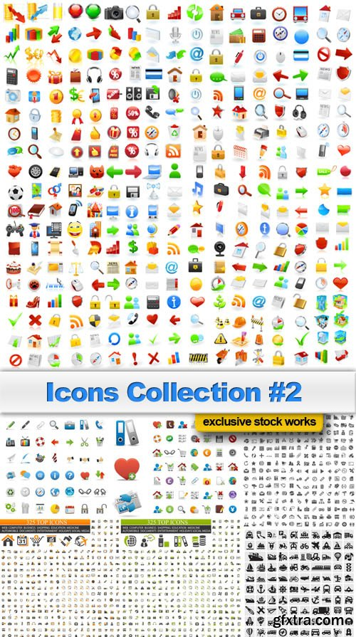 Icons Collection #2 - 25 EPS, AI