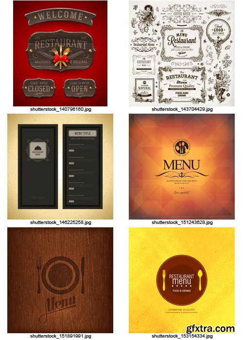 Amazing SS - Restaurant Menu 9, 25xEPS