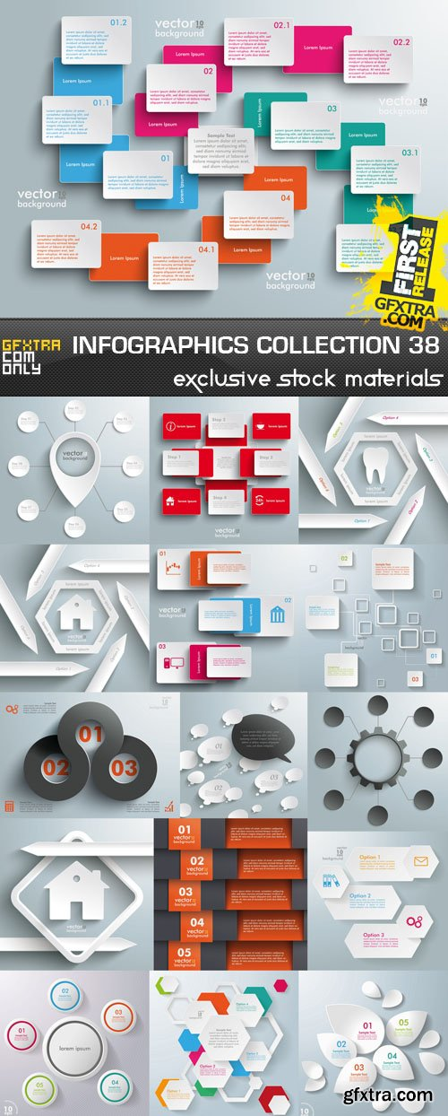 Collection of infographics vol.38, 25xEPS