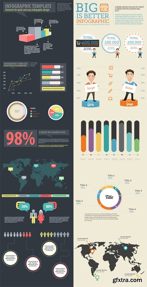 Infographic Elements PSD