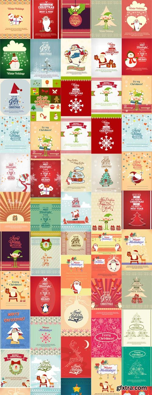 50 Christmas Vector Illustrations Set 2