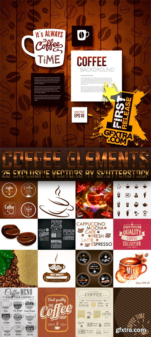 Amazing SS - Coffee Elements, 25xEPS