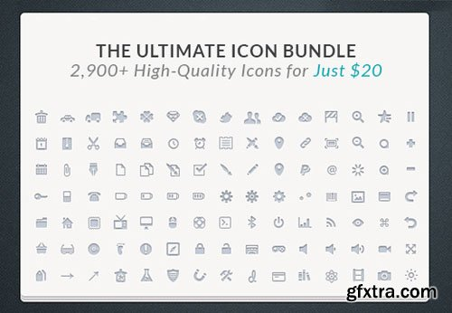 The Ultimate Icon Bundle: 2,900+ High-Quality Icons