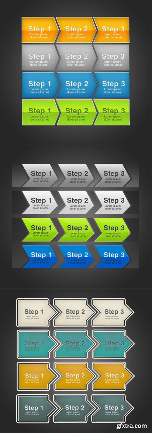 Order Steps PSD Templates
