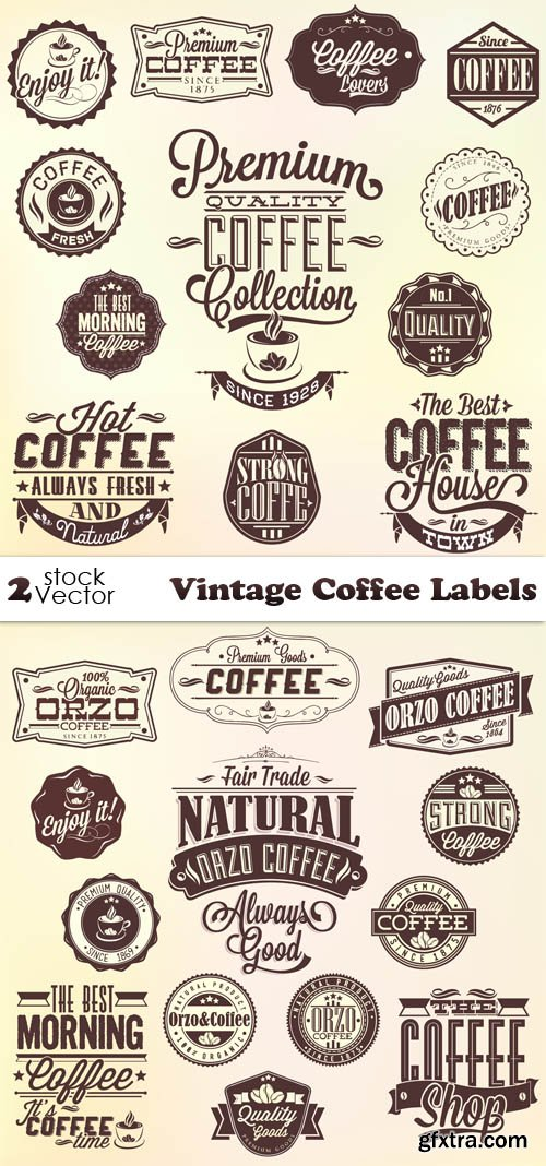 Vectors - Vintage Coffee Labels