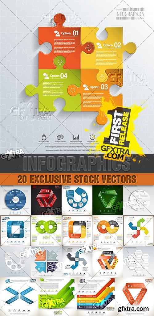 Design templates for enterprises, infographics 8 - Vector