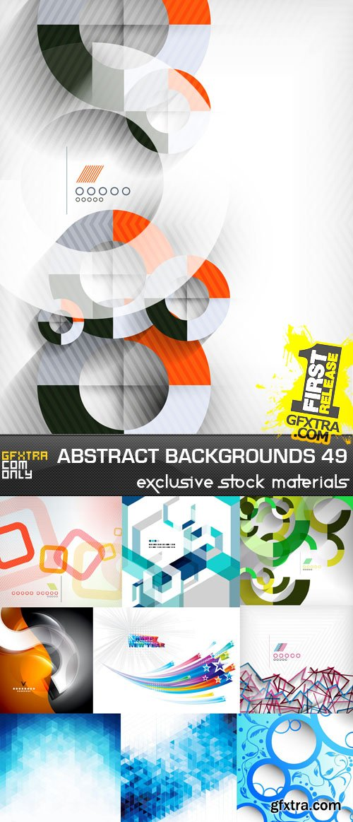 Collection of Vector Abstract Backgrounds Vol.49, 25xEPS