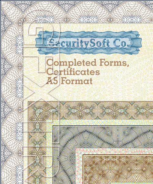 SecuritySoft GLH010 Completed Forms, Certificates A5 Format