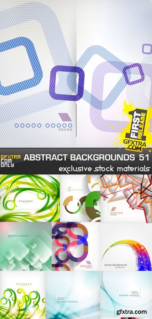Collection of Vector Abstract Backgrounds Vol.51, 25xEPS