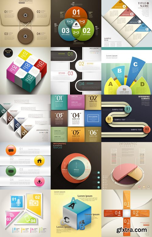 Collection of infographics vol.40, 25xEPS