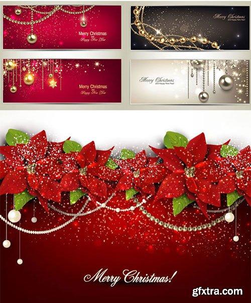 Elegant Christmas Backgrounds 25xEPS