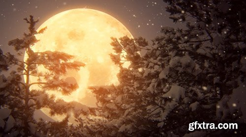iStock Video Footage - Full Moon And Snow