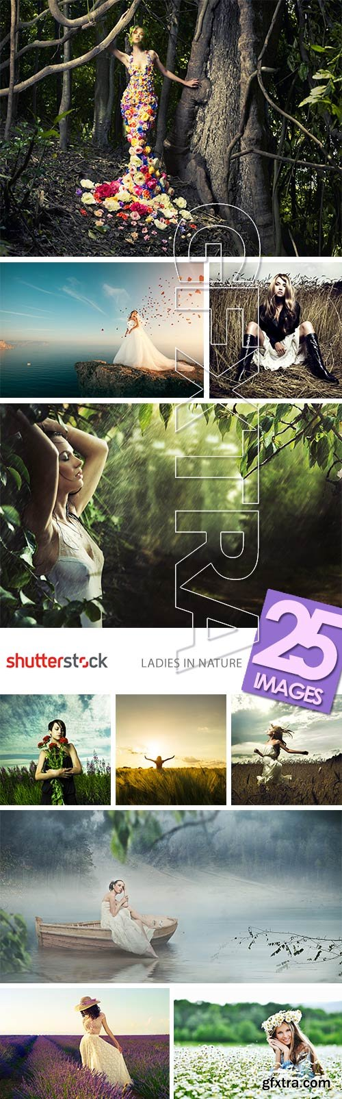 Shutterstock - Ladies in Nature 25xJPG GFXTRA.COM!