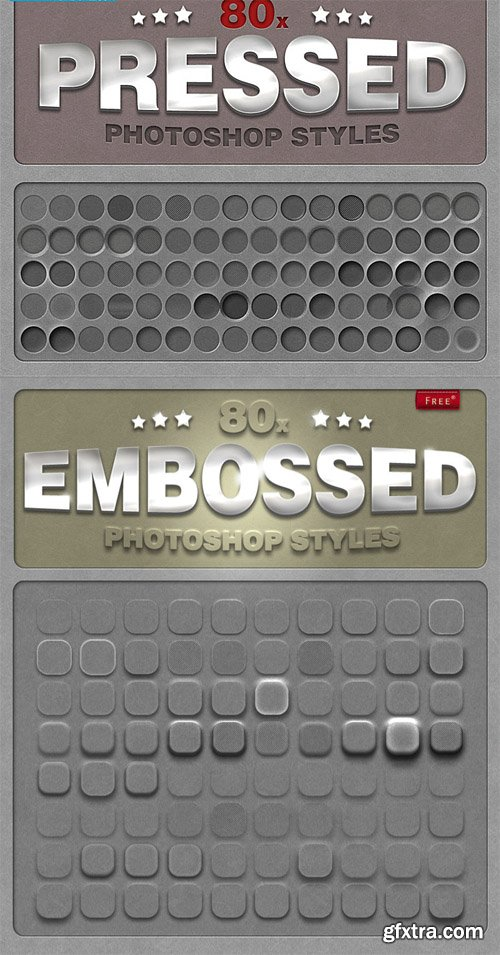 80 Embossed and Pressed PS Styles