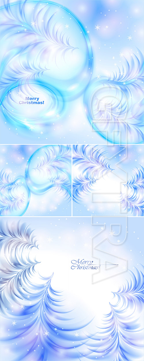 Christmas icy abstract backgrounds
