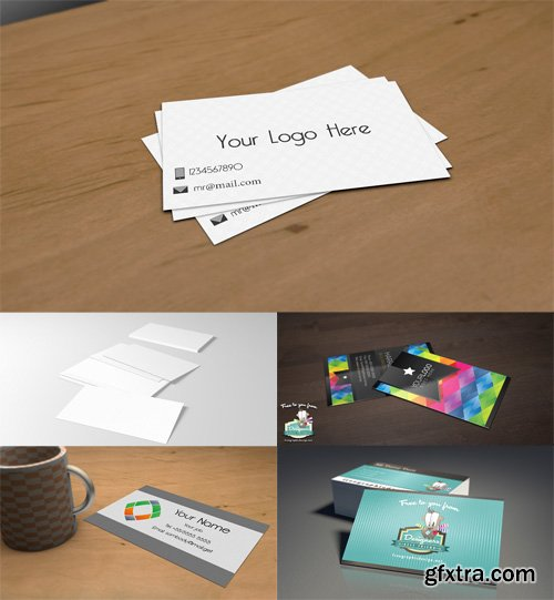 5 Business Сards Mock-up Templates