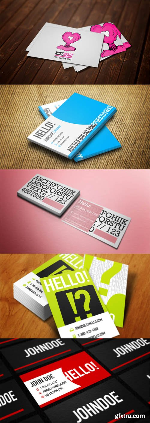 5 Business Сards Mock-up Templates Vol.2