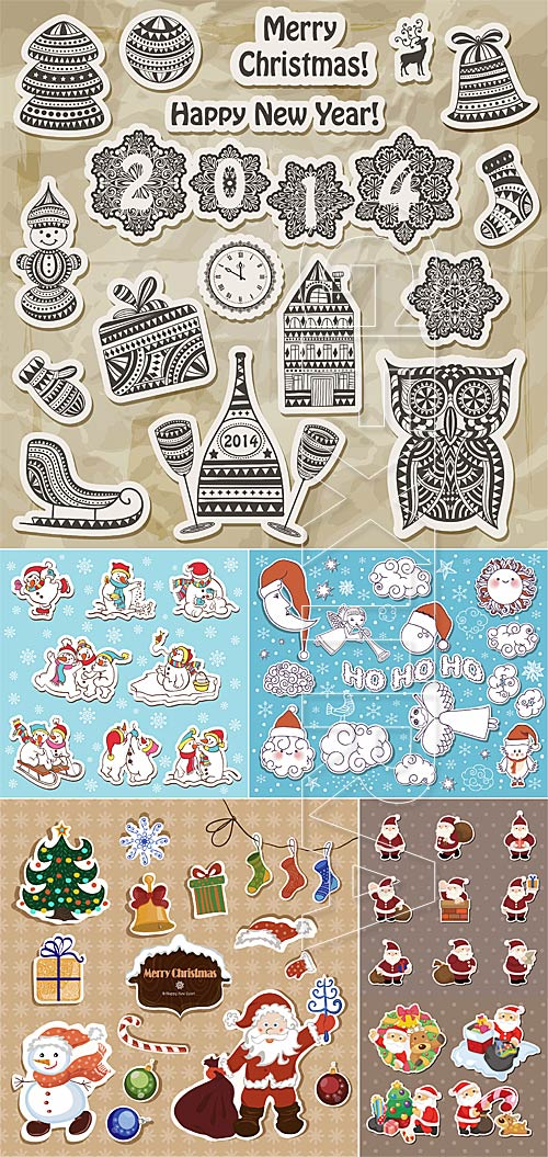 Christmas vector stickers