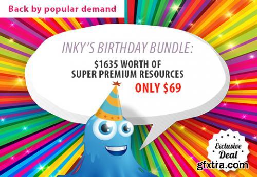InkyDeals - Inkys Birthday Bundle with $1635 worth of Super Premium Resources