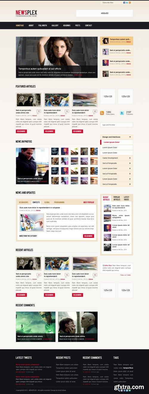 Newsplex Web Site Template PSD