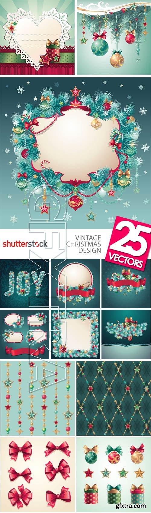 Vintage Christmas Design 25xEPS