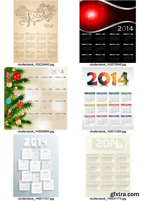Amazing SS - Calendars for 2014 (vol.7), 25xEPS