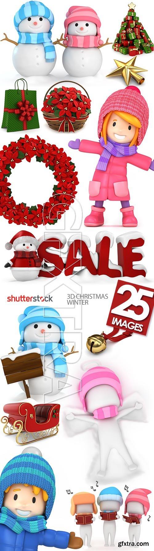 3D Christmas Winter 25xJPG