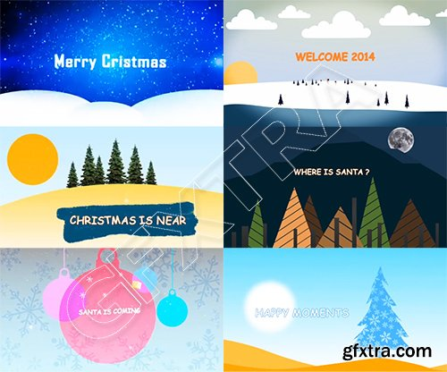 GFXTRA Merry Christmas After Effects Pack 4