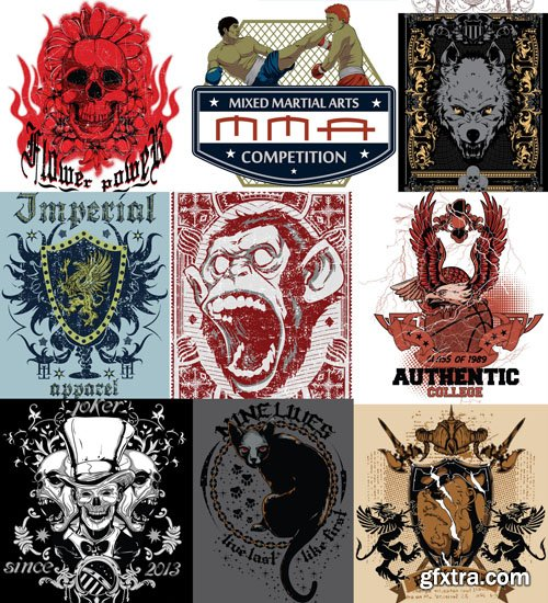 Emblems on T-shirts