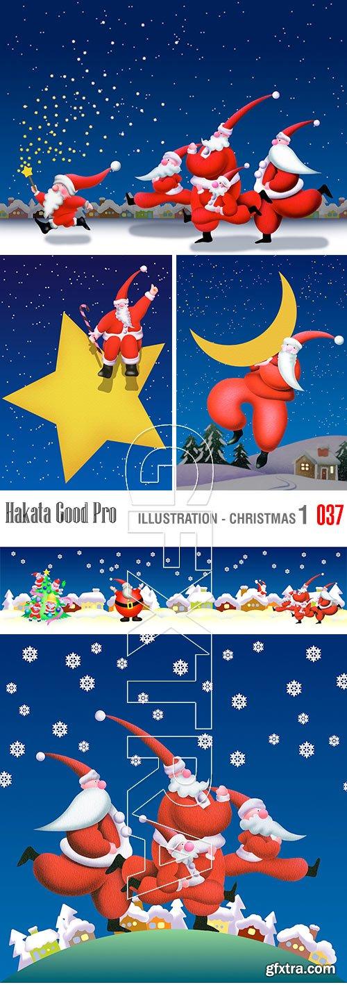 Hakata Good Pro HG037 Illustration 1 - Christmas