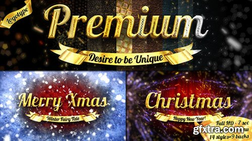Videohive - Christmas Luxury Logo - over 30 Variations 6070720