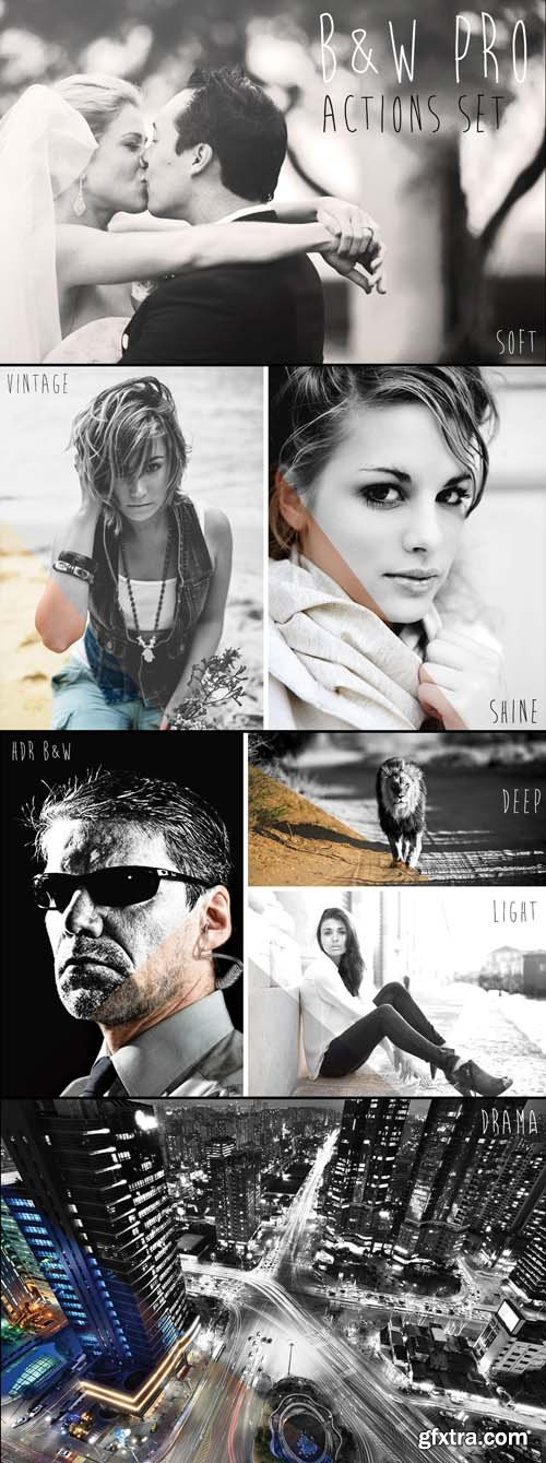 BW PRO Photoshop Actions Set