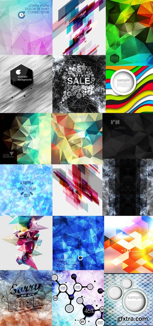 Collection of Vector Abstract Backgrounds Vol.58, 25xEPS