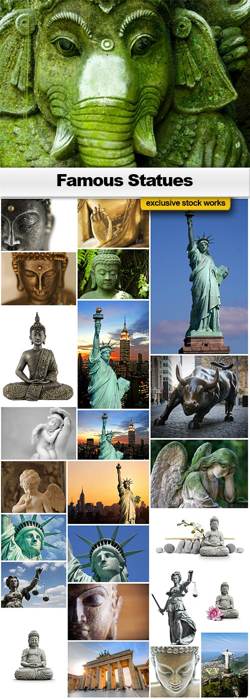Famous Statues - 25x JPEGs