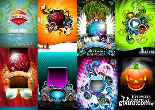Party Flyer & Elements - 25x EPS