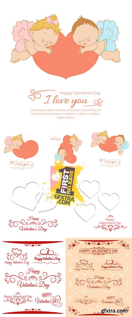 Stock: I love you, card Valentine's Day