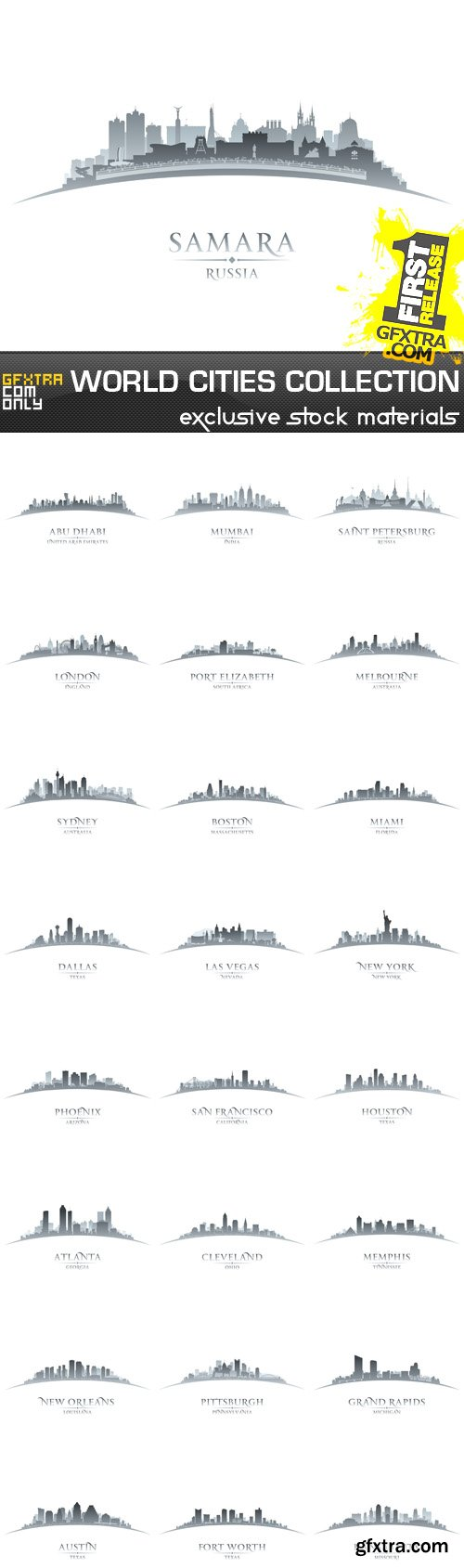 World Cities Collection, 25 EPS