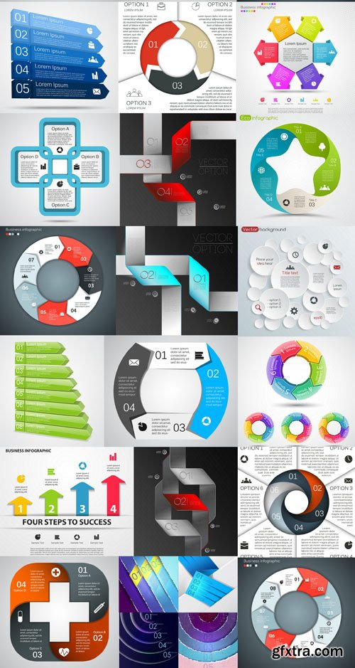 Infographics Elements #21 - 25 EPS