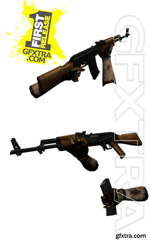 3D Model - AK-47 with animation