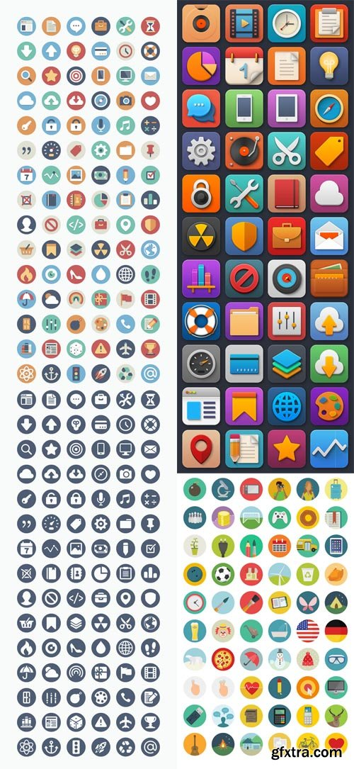 Round Flat Icon Collection