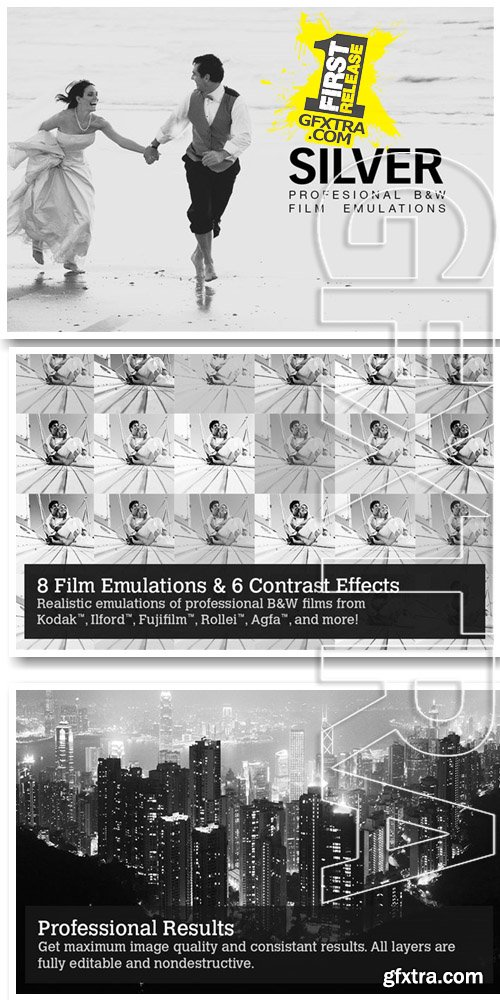8 B&W Film Emulation Photoshop Actions