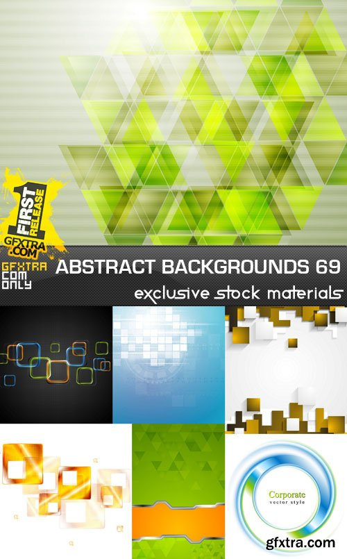 Collection of Vector Abstract Backgrounds Vol.69, 25xEPS