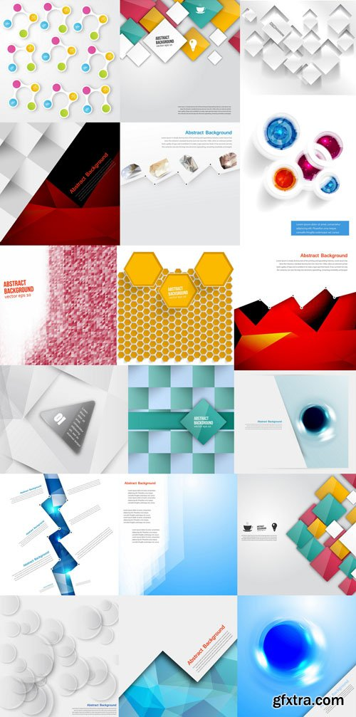 Collection of Vector Abstract Backgrounds Vol.70, 25xEPS