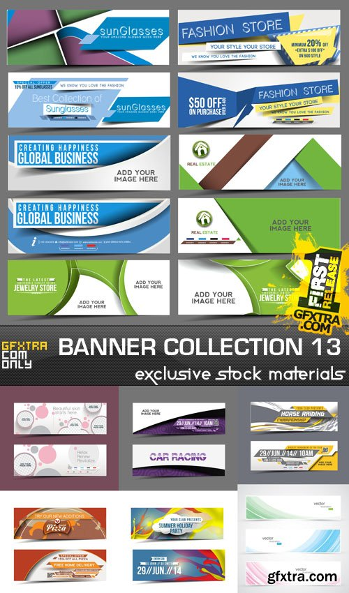 Collection of vector banners vol.13, 25xEPS