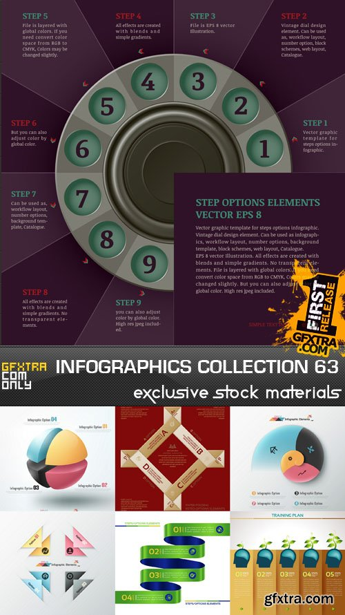 Collection of infographics vol.63, 25xEPS