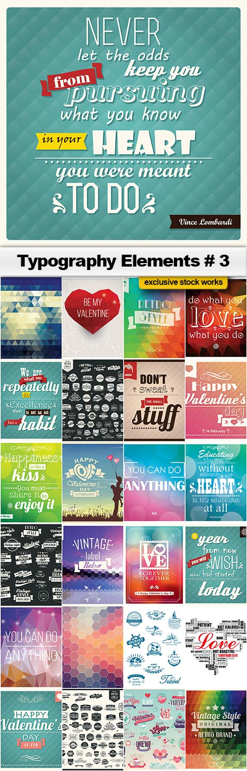 Typography Collection 3 - 25x EPS