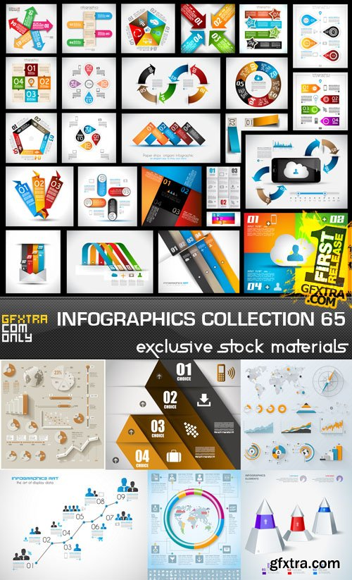 Collection of infographics vol.65, 25xEPS