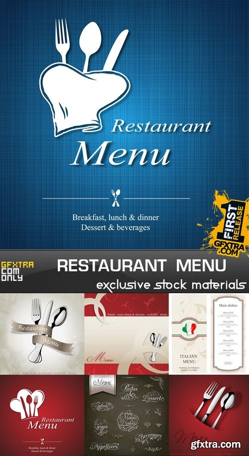 Restaurant Menu Collection, 25xEPS