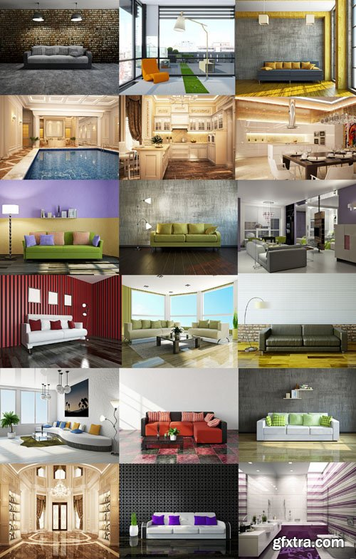 Collection of Interiors Vol.14, 25xUHQ JPEG
